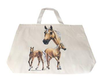 Palomino Horse  Printed Bag  100% Cotton Tote  Shopper Bag For Life