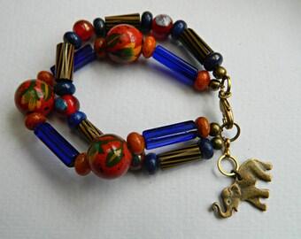 Stunning Tribal Vintage trade bead ,Rustic,Hippy ,Boho  stack Bracelet