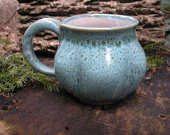 Gourd  Mug 18oz. - tea mug/ coffee mug / sensuous feel, handmade pottery