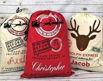 Personalized Santa Sack, canvas santa sack, santa sack, personalized, christmas bag, santa bag, canvas bag, canvas santa bag, santa, bag