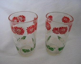 1950's Juice Glasses Swanky Swigs Vintage Drink Kitchen and Dining