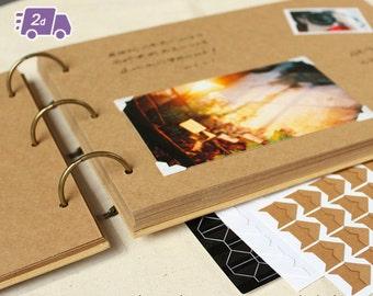 Plain Hardcover Scrapbook Photo Album w/ Photo Frame | Wedding Guestbook | Instant Photo Album | Signature Book