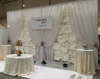 DIY Paper Flower Backdrop (White) - Paper Flower Wedding | Large Paper Flowers | Paper Flower Wall | Paper Flower Backdrop