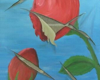Freshly Cut Roses Art Magnet