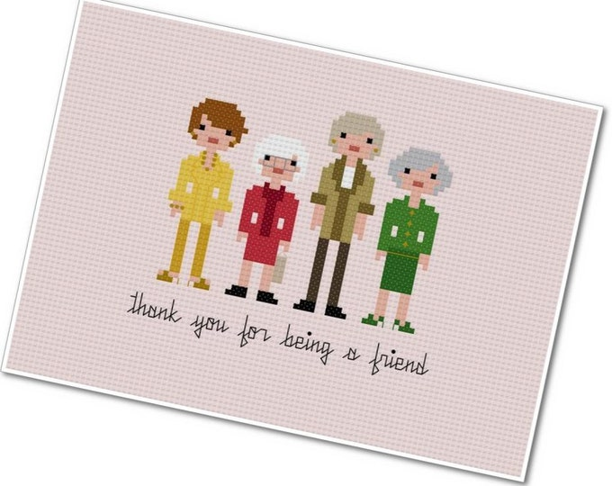 Featured listing image: The Golden Girls - The *Original* Pixel People - PDF Cross-stitch Pattern - INSTANT DOWNLOAD