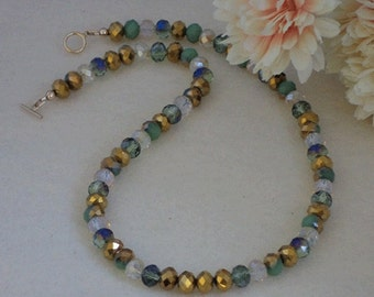 Mixture Of Colors For Crystal Rondelle Beaded Necklace   FREE SHIPPING
