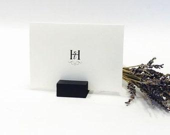 Wedding Place Card Holder -  Black place card holders  (Set of 100)