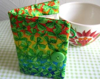 Tea Bag Wallet-Rainbows of Shamrocks, Shamrocks and Rainbows Teabag Wallet, Rainbows of Shamrocks Teabag Holder
