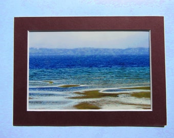 Matted 4x6 Beach Fine Art Print Photography, Signed Artwork, Small Wall Art Home Decor Lake Michigan