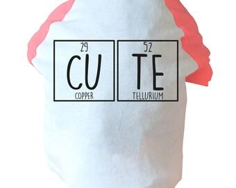 cu te dog vest t shirt funny joke gift nerd geek science scientist elements pun - Periodic Table Jokes Tumblr