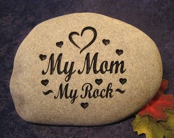 "Custom Engraved Mother's Day Stones/Rocks, Large apx. 10""-11"" wide"
