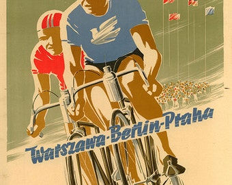 1954 Peace Race Bicycle Poster (#0435) 6 sizes