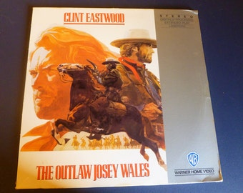 The Outlaw Josey Wales Clint Eastwood Extended Play LaserDisc 1987