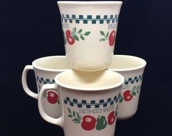 "Set of 4 Vintage Corning ""Farm Fresh"" Cups"