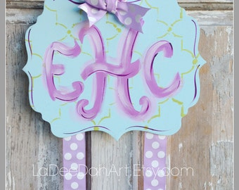 Hair Bow Holder, Hand-Painted Bow Holder, Monogram Bow Holder, Clip Holder, Bow Organizer, Bow Holder, Personalized Bow Holder