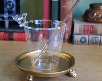 Bird Brush Wash Cup - Hand Blown Glass