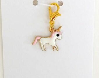 Unicorn Progress Keeper, Knitting Marker, Crochet Stitch Marker, Removable Stitch marker, Zipper Pull for your Project Bag