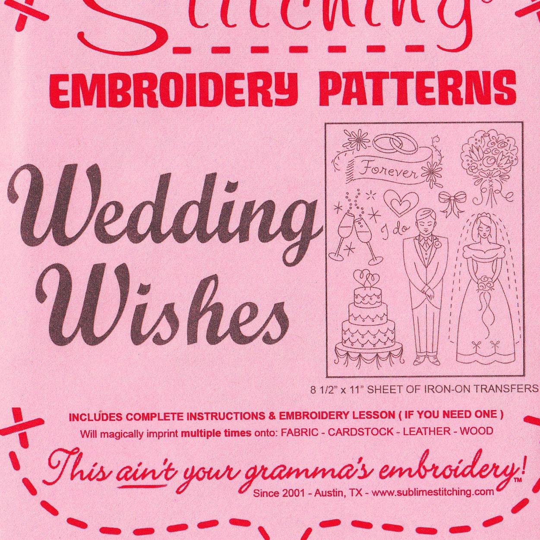 Patrón de bordado de la boda Sublime costura novia deseos