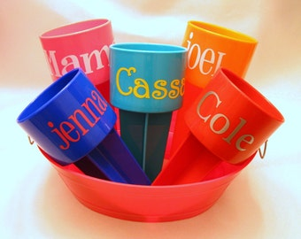 Sand Cup Drink Holder Spring Break Beach Trip Necessity,  Monogrammed - Holds Your Drink at the Beach, Personalized in Many Colors