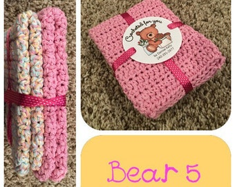 Crocheted Dishcloths-Bear 5