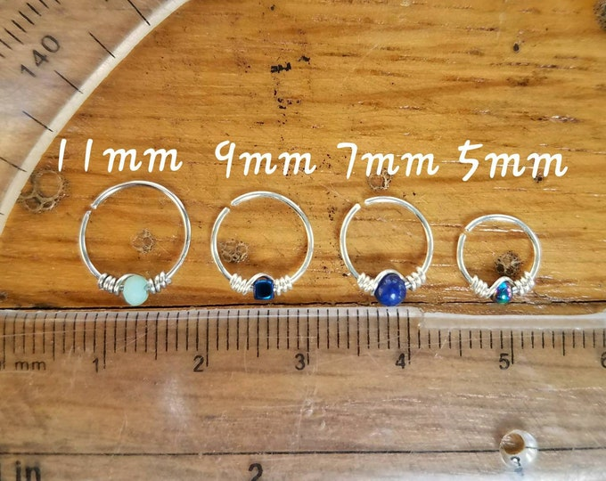 Featured listing image: BEST SELLER Body Jewelry Hoops, Piercings, 22g 20g 18g, stainless steel, sterling silver, gold filled, nose ring, tragus, rook, septum