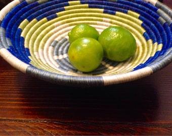 Beautiful blue/gray/green/White African Baskets/Fruit Baskets*** Free Shipping