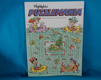 Vintage 1994 Highlights Puzzlemania activity book by Highlights for Children