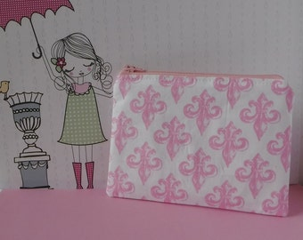Fleur De Lis Fabric - Tampon Pouch - Fleur De Lis Bag - Tampon Holder - Tampon Case - Toiletry Bag - Women Toiletry Bag  Sanitary Pad Holder