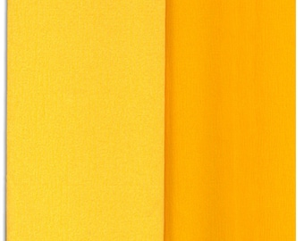 Gloria Doublette Double Sided Crepe Paper For Flower Making Made In Germany Goldenrod And Yellow  #3404