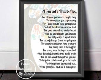 Childcare Thank You, Gift For Teacher, Thank You Gift, Babysitter Gift, Teacher Appreciation, Nursery Teacher Gift, A Parent's Thank You