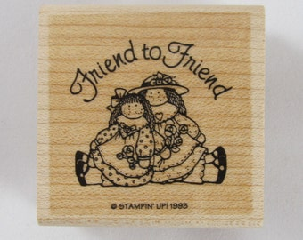 Stampin Up! - Friend to Friend Rubber Stamp #AA201