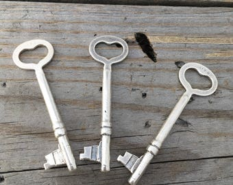 Sterling Silver Skeleton Keys Jewelry Supply Jewelry Findings