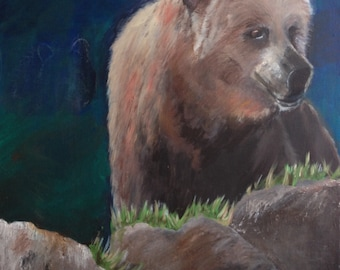 Bear acrylic on canvas