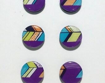 Purple Chevron Fridge Magnets / Refrigerator Magnets / Magnet Set