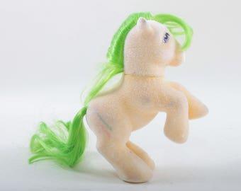 My Little Pony, So Soft, Hasbro, Vintage, Toy, Magic Star, Green Hair, Magic Wand Symbol, MLP, Blue eyes, Flat Feet ~ The Pink Room ~ 170520