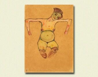 Egon Schiele Print - Pregnant Woman 1910 - Schiele Art Print Schiele Poster Art Reproduction Gift Idea