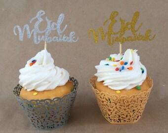 Eid Mubarak cupcake toppers and wrap