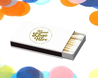 Personalized Matches, with your logo Favor Personalized Sparkler Matches Custom Matchbook Wedding Favors Personalized Matches IM00