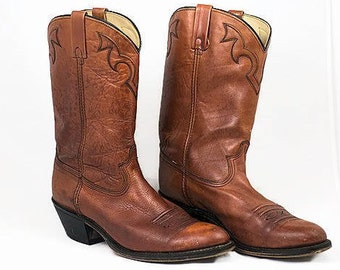 Vintage 1960 Western Men's Leather Boots, Vintage ACME Men's Boots