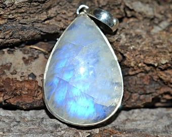 Moonstone Silver Pendant, Natural Moonstone Pendant, Moonstone Pendant, Moonstone Necklace Pendant, 925 Silver Pendant