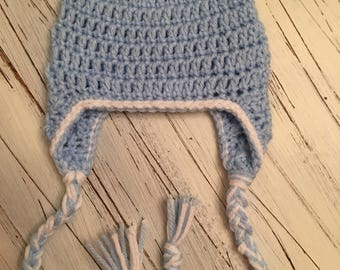 Light blue earflap hat