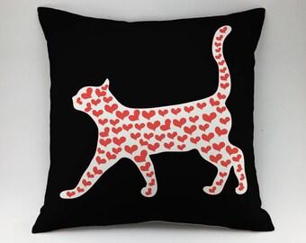 Cat pillow case Decorative pillow Throw pillow cover kitty pillow kitten pillow kitty pillow animal pillow Cat Lover Gift cat print pillow