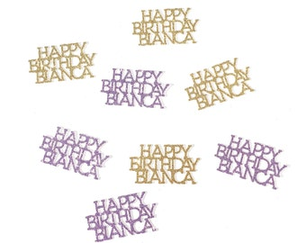 Happy Birthday Confetti | Birthday Confetti | Personalized Birthday Confetti | Custom Birthday Confetti