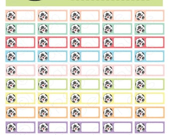 Kawaii Soccer Tracker Printable stickers,Any Planner Set, Planner Stickers, Erin Condren, Instant Download