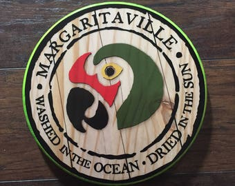 Margaritaville Parrot Head Sign