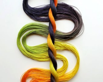 "Size 50 ""Spooky"" hand dyed thread 6 cord cordonnet tatting crochet cotton"