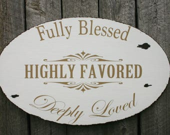 Deeply Loved Distressed Sign