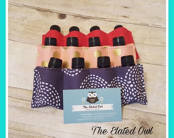 Essential Oil Case Pouch, Essential Oil Storage, Essential Oil Bottles, Essential Oil Travel Case, Essential Oil For the Purse, Oil Pocket