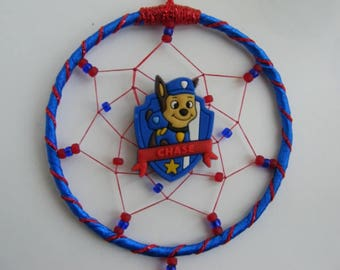 CHASE MINI Dreamcatcher Inspired by Paw Patrol Bedroom Birthday gift Childrens