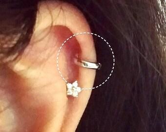 Simple cartilage hoop, silver cartilage hoop, gifts, Tragus piercing, tragus earring, hoop earring, simple hoop, endless hoop, circle tragus